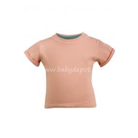 тениска в цвят праскова